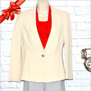 Iceberg Lined Fitted Blazer Cream #j8w06p01d13y0